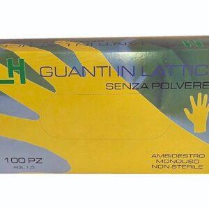 Guanti in lattice senza polvere. Taglia: L M S